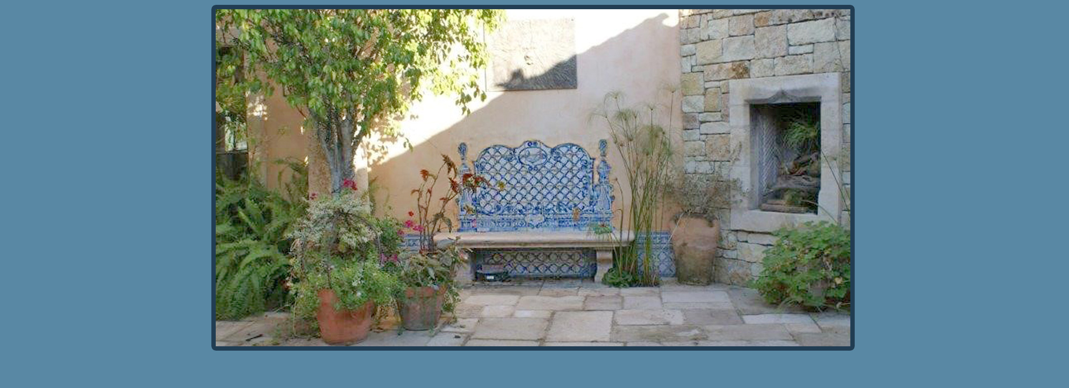 Bench created with Portuguese Tiles - Azulejos